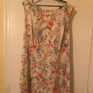 Women's Lands End Floral Sheath Dress - size  18W